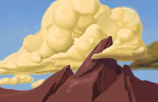 Clouds, painting exercise