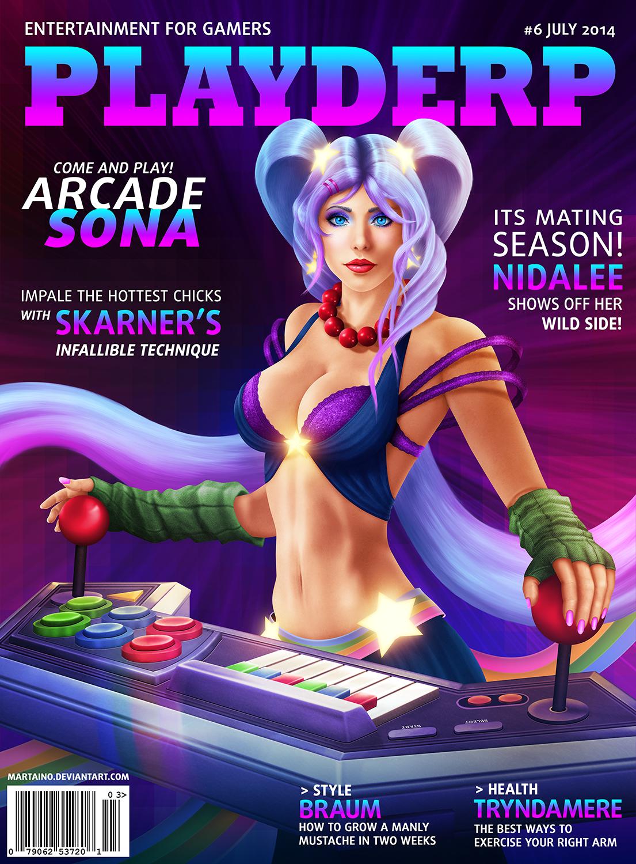 Playderp Mag #6 Arcade Sona by martaino