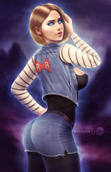 Android 18 .nsfw opt. by martaino