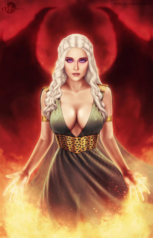Daenerys Targaryen (SFW) by martaino