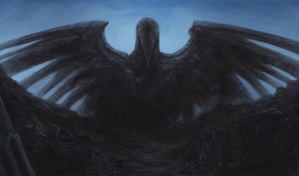 Raven Statue (WIP) by SixFootEwok