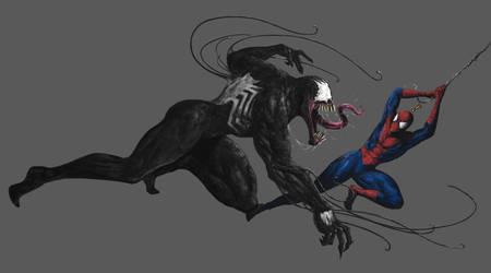 Spidey + Venom by SixFootEwok