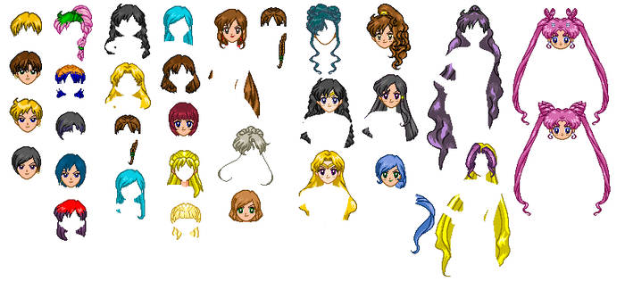 SSMU Hair Template by SailorMoonParadise