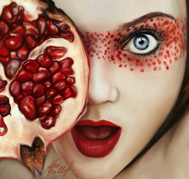 Girl with pomegranate by ArviShiller
