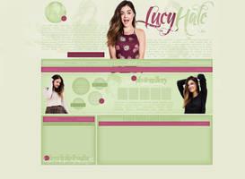 Lucy Hale Free Layout 02 by lenkamason