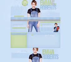 Emma Roberts Free Layout by lenkamason