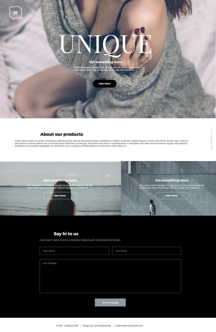 UNIQUE webdesign by lenkamason