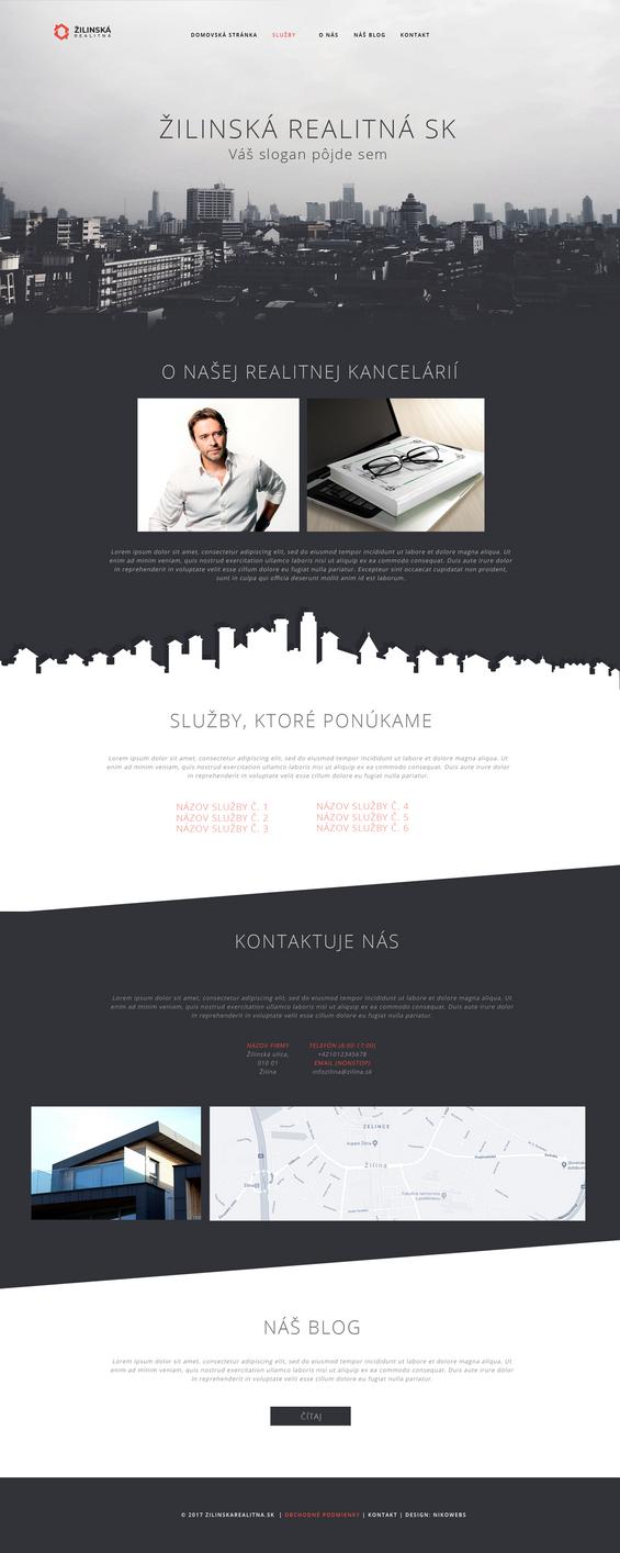 zilinskarealitna.sk   Webdesign