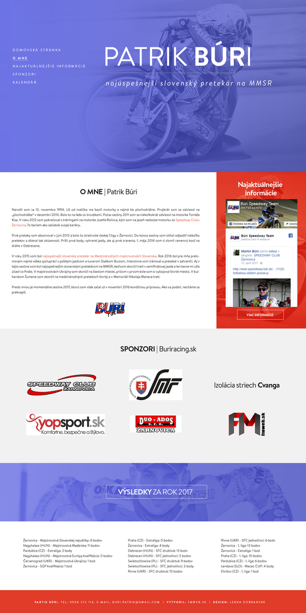 Official Website - Patrik Buri | buriracing.sk by lenkamason