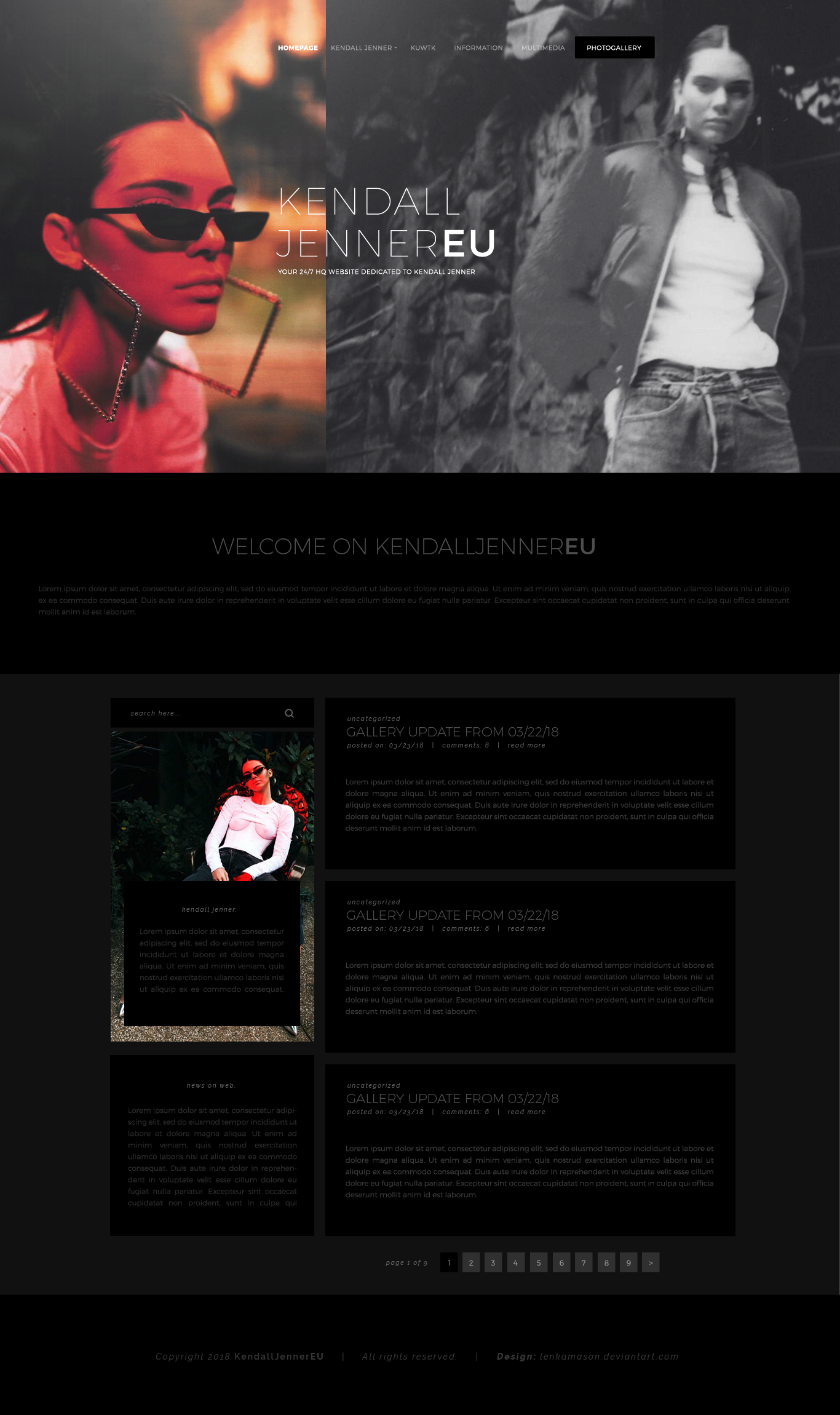 Kendall Jenner Free Layout by lenkamason