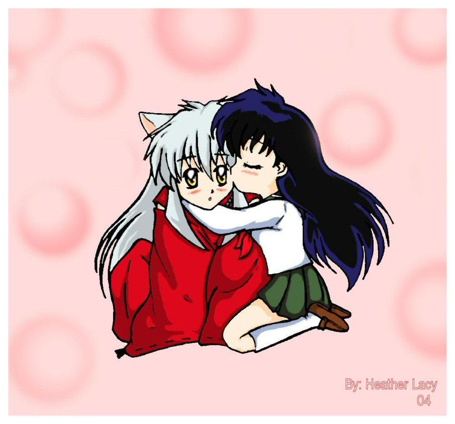 chibis hugging