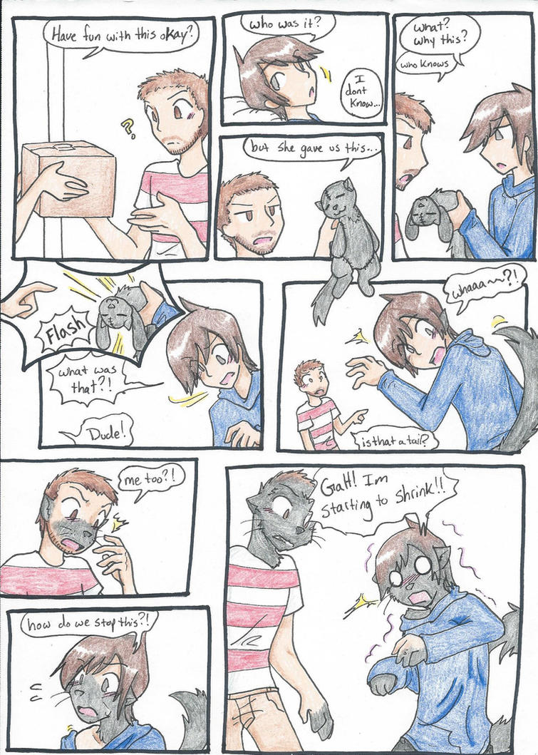 Otter commission page 1 by RaiinbowRaven