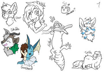 Stream doodles by RaiinbowRaven