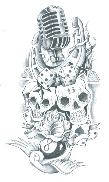 skull sleeve old school tattoo by symbolofsoul on deviantart. Black Bedroom Furniture Sets. Home Design Ideas