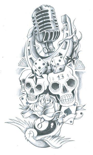 skull sleeve old school tattoo by symbolofsoul on deviantart. Black Bedroom Furniture Sets. Home Design Ideas