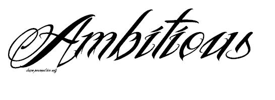 Ambitious tattoo font by symbolofsoul on DeviantArt