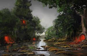 Swamp - speedpaint by Verticae