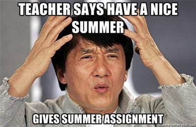 Image result for ap world summer assignment meme