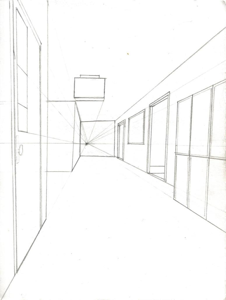 School Hallway WIP by Nosh59