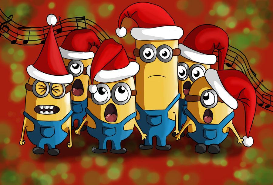 Funny Minion Merry Christmas Wallpapers Sayings: Christmas Minions By Kingoftheplatypus On DeviantArt