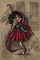 The sun caught in her raven hair... by Kingoftheplatypus
