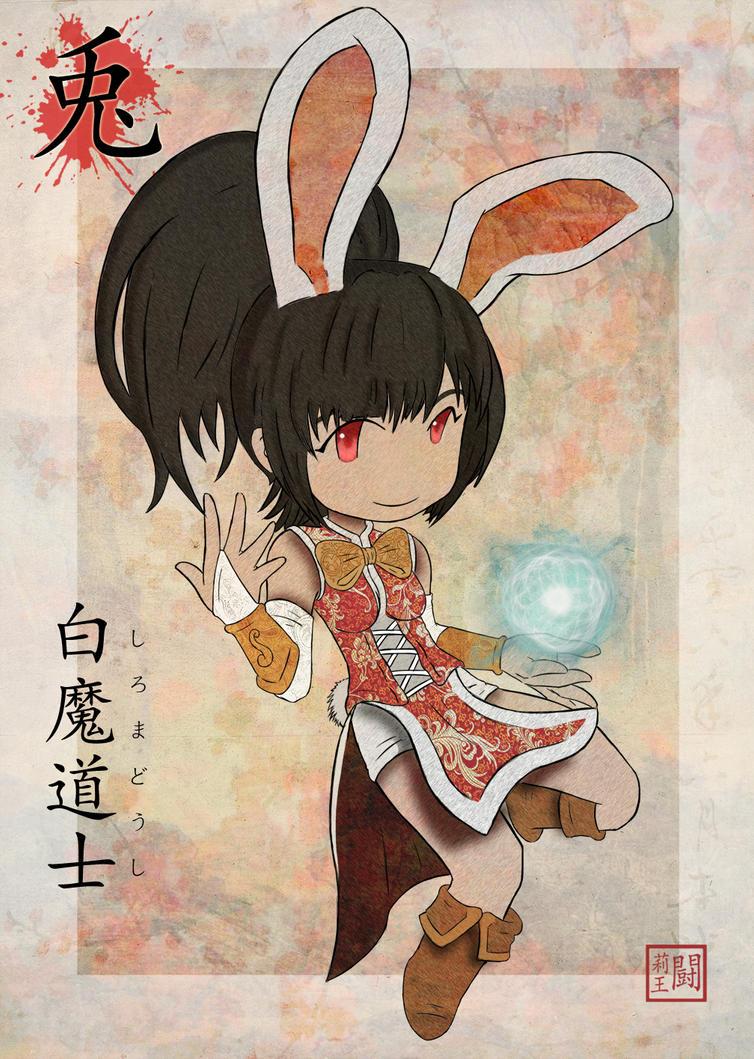 Rabbit - White Mage by TulioMinaki
