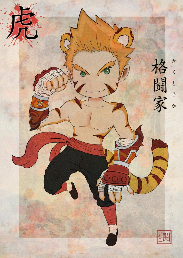 Tiger - Monk by TulioMinaki