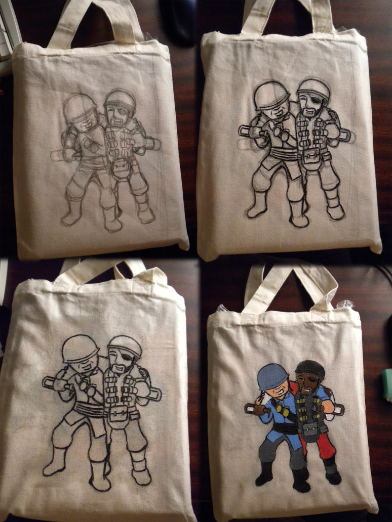 Soldier and Demoman bag by Wolfsirius
