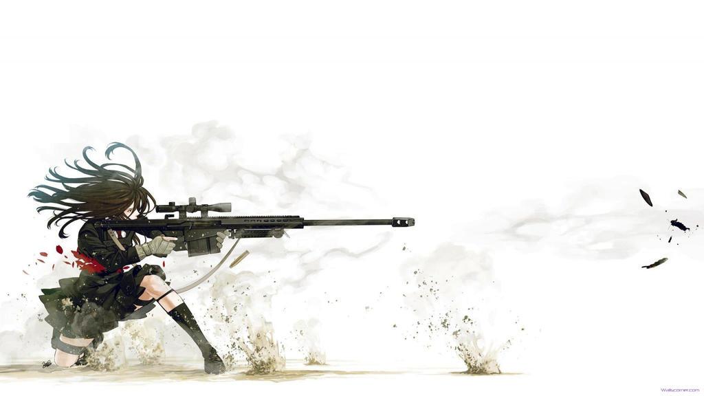 Anime Sniper Wide 2048x1152 By Ghostmusicmc On Deviantart