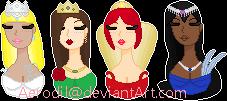 Princess busts - My characters by Aerodil