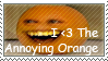 The Annoying Orange Stamp by transylvaniandreams