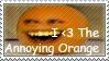 The Annoying Orange Stamp