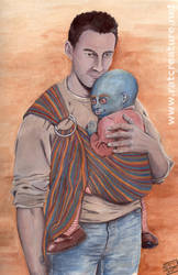 HL+XM: Methos with mutant baby by ratcreature