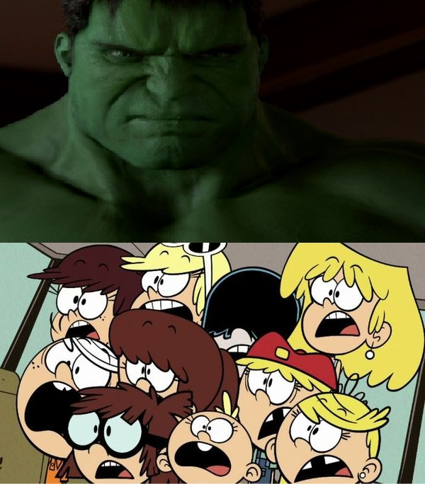 The Loud Siblings Are Scared of Hulk (2003) by TheLoudHouse1998