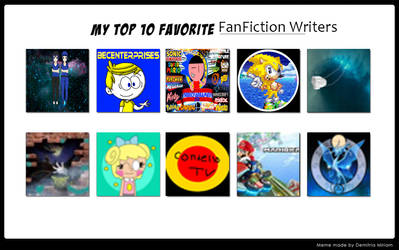 My Top 10 Favourite Fanfiction Writers