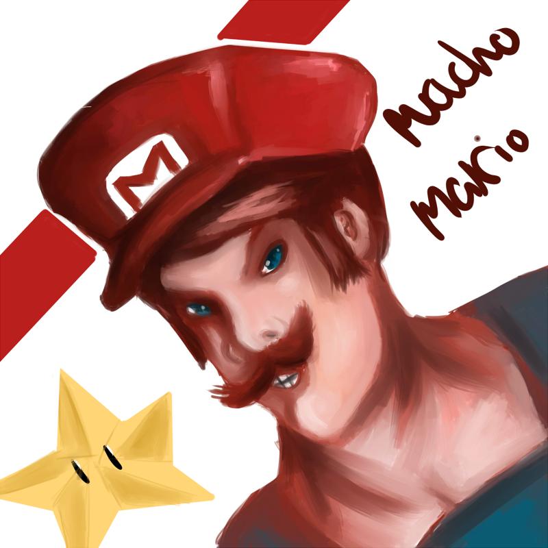 Macho Mario by Tirivitive