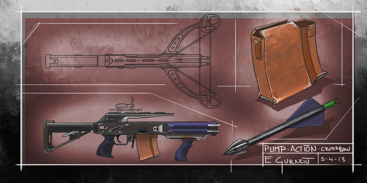 Pump action crossbow by DrZoidberg96 on DeviantArt