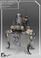 Quadruped helping droid by EdonGuraziu