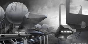 Scifi dock