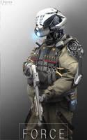 Civilian Control droid by EdonGuraziu