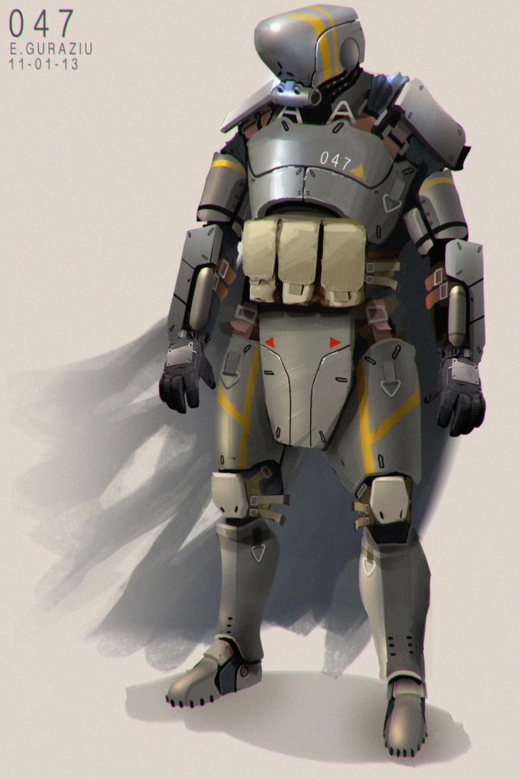 SciFi character concept by EdonGuraziu