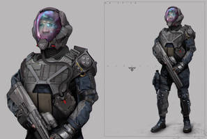 Sifi Soldier Design by EdonGuraziu