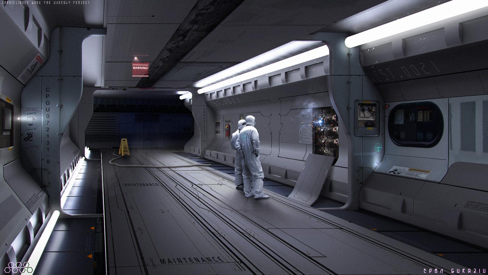 Scifi Corridor Concept By Edonguraziu On Deviantart