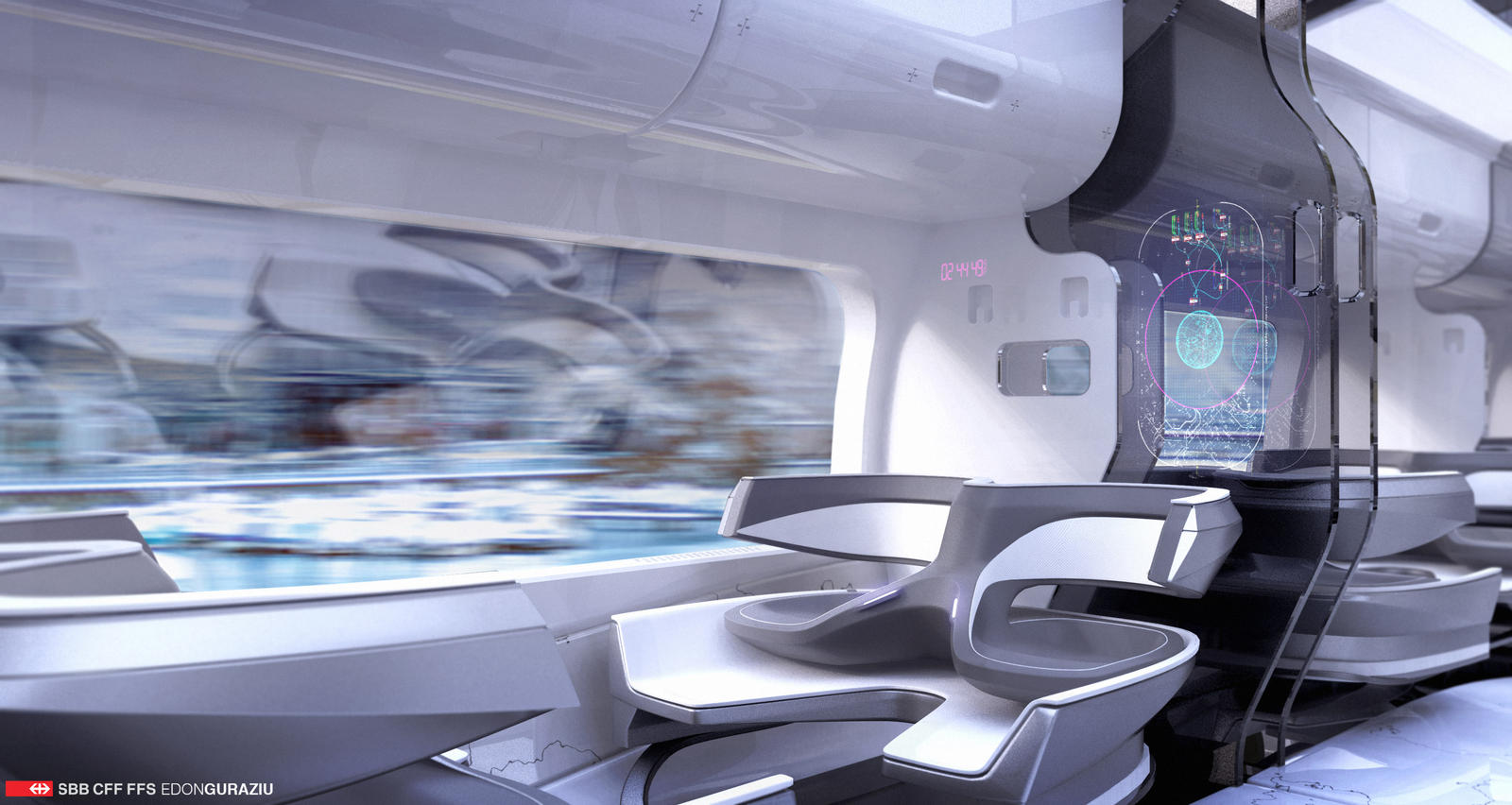 Futuristic Train Interior Design by EdonGuraziu on DeviantArt