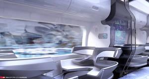 Futuristic Train Interior Design by EdonGuraziu