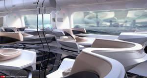 Futuristic Train Interior Design 2 by EdonGuraziu