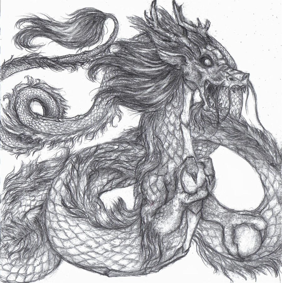 how to draw ancient chinese dragons