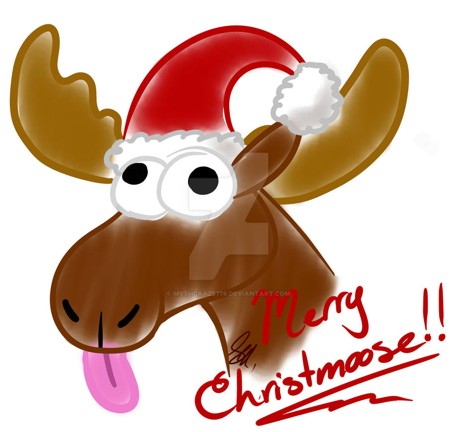 Merry Christmoose 2015! by mythcraze776
