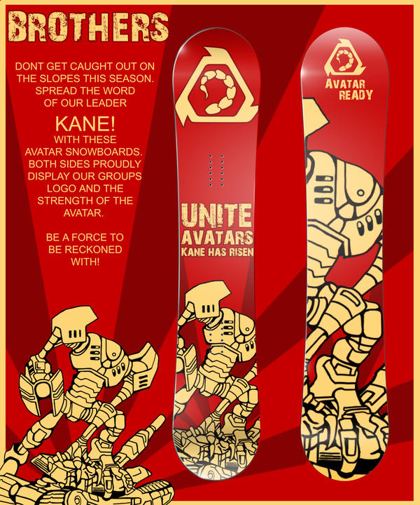 Cool Custom Snowboard Design found at DeviantART
