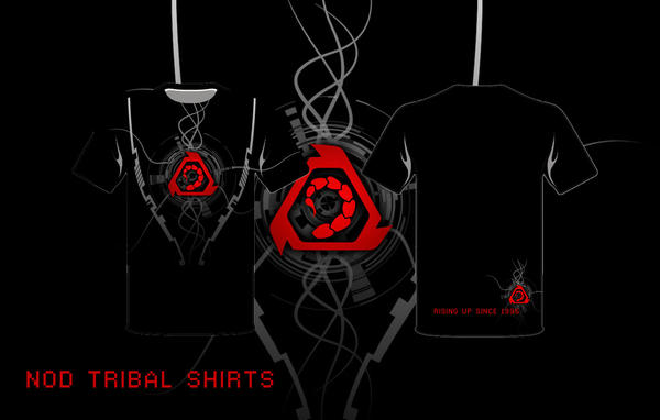 Nod Tribal T-shirt by Adder24